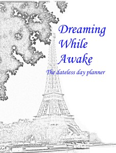 Day planner cover with title